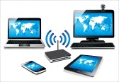 19393710-home-wifi-network-internet-via-router-on-pc-phone-laptop-and-tablet-pc
